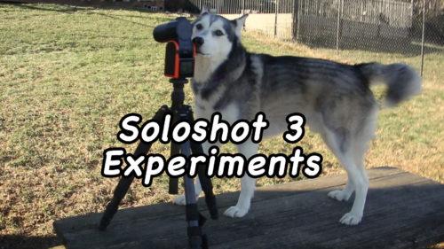 Soloshot 3 Experiments